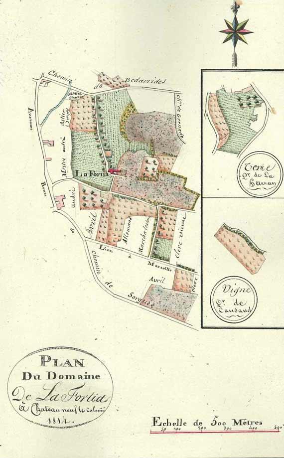 La carte du domaine
