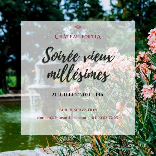 Toute l'équipe de Château Fortia vous invite à une soirée conviviale et confidentielle autour de vieux millésimes!
